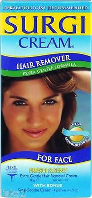 SURGI CREAM HAIR REMOVER X-TRA GENTLE FORMULA, FOR FACE