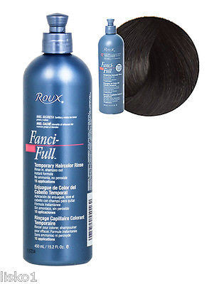 ROUX FANCI-FULL TEMPORARY HAIR COLOR RINSE _   #12 BLACK RAGE ,15 OZ. SIZE