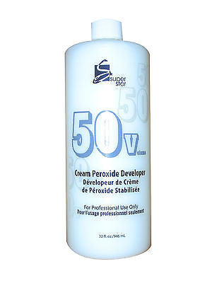 SUPERSTAR 32oz. 50 vol stabilized cream peroxide developer for hair bleaching