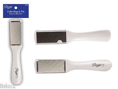 CALLUS  REMOVER  DIANE #939 CALLUS RASP & FOOT FILE, WHITE PLASTIC, 2-SIDED FILE