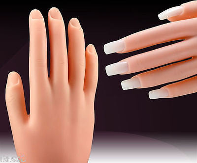 MANIKIN HAND DIANE #902 PLASTIC NAIL PRACTICE HAND W/SLOTS FOR NAILS, NAIL TECH TRAINING.