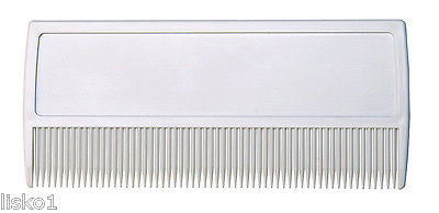 BEARD OR MUSTACHE COMB, STURDY PLASTIC, FINE TOOTH