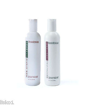 WIG SHAMPOO BRANDYWINE 8 OZ. WIG SHAMPOO AND CONDITIONER _  BOTH BOTTLES FOR $18.00