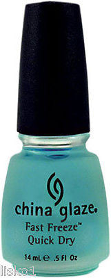 NAIL POLISH CHINA GLAZE FAST FREEZE QUICK DRY NAIL TREATMENT NAIL POLISH DRYER 1/2 OZ. SIZE