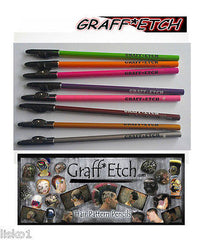 GRAFF*ETCH PENCIL ME IN BARBER ETCHING COLORED PENCILS *NEW* 8-NEON COLOR'S