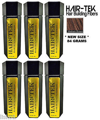 Hair Building Fibers,6_ 84gms_Med Brown  *NEW SIZE *Hair Loss Concealer