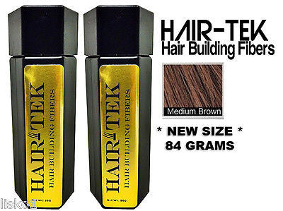 Hair Building Fibers,2_ 84gms_Med Brown *NEW SIZE * Hair Loss Concealer