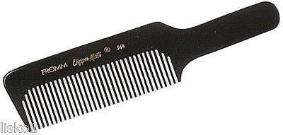 "STYLING COMB FROMM #914  BLACK CLIPPERMATE BARBERS STYLING, CLIPPING  8-3/4"" COMB"