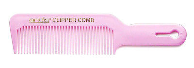 "ANDIS #CB-01 PINK CLIPPER HAIR CUTTING COMB , FLEXIBLE PLASTIC, 8-1/2"" LONG"