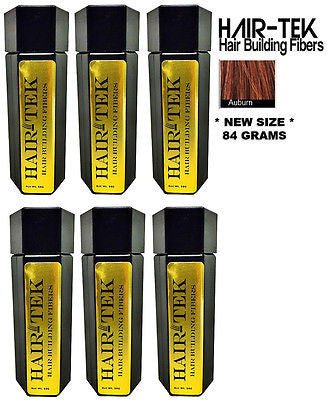 Hair Building Fibers, 6_ 84gms_ Auburn  *NEW SIZE * Hair Loss Concealer