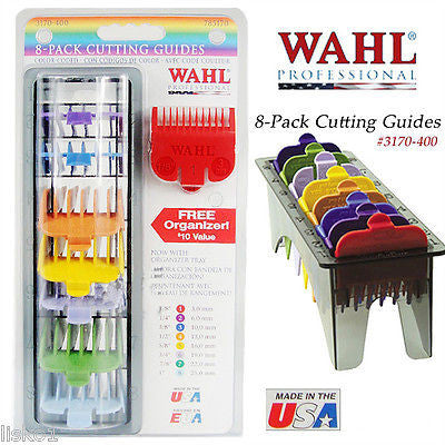 WAHL #3170-400  #1-8 ATTACHMENT COMBS, COLOR CODED