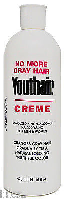 YOUTHAIR CREME HAIRCOLOR  FOR MEN & WOMEN , 1_16 OZ. BOTTLE