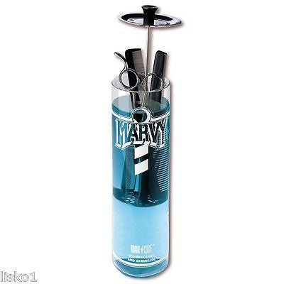 MARVY BARBER  NO.3 UNBREAKABLE 25 OZ.  TOOL SANITIZING DISINFECTANT JAR