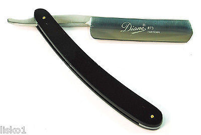 STRAIGHT RAZOR DIANE #73 MEN'S (PAKISTAN) SHAVING RAZOR,W/PLASTIC HANDLE, STAINLESS STEEL BLADE