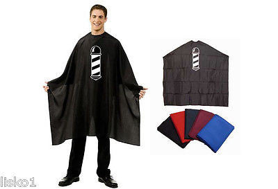 CUTTING CAPE BETTY DAIN  #201 BARBER POLE  NYLON HAIR CUTTING CAPE  (BLACK)