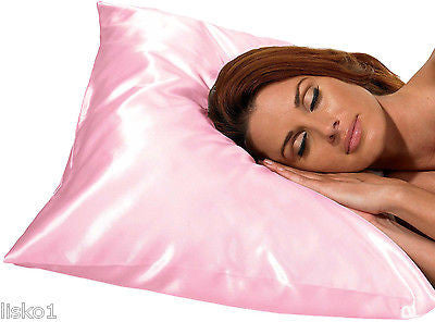SATIN PILLOW CASE BETTY DAIN #122P  KING SIZE SATIN PILLOW CASE,PROTECT HAIR WHILE SLEEPING (PINK)