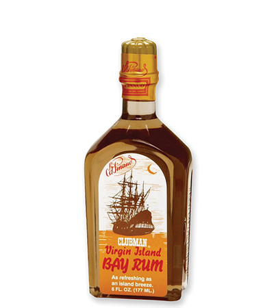 Virgin Island Bay Rum 6 OZ.  BY CLUBMAN