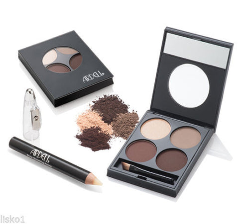 Ardell  Eye Brow Defining Kit,   Defining Palette,Wax Grooming Pencil, Duo Brush