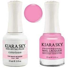 Kiara Sky - Matching Gel Polish and Nail Lacquer, You Make Me Blush