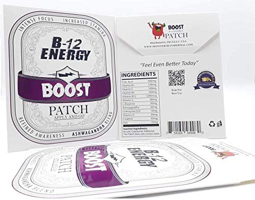 Monster Patch B-12 Energy Boost Patch