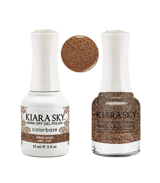 Kiara Sky - Matching Gel Polish and Nail Lacquer, Strike Gold