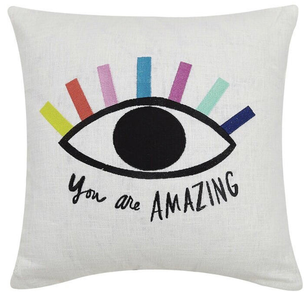 """You are Amazing Eye"" Pillow"