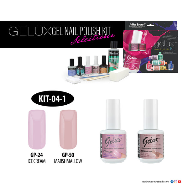 Mia Secret - Gelux Kit Ice Cream & Marshmallow Kit