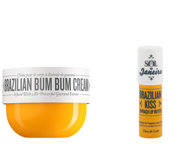 Sol De Janeiro Brazilian Bum Bum Cream 240ml and Brazilian Kiss Cupuaçu Lip Butter