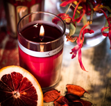 Red Flower - Italian Blood Orange Petal Topped Candle