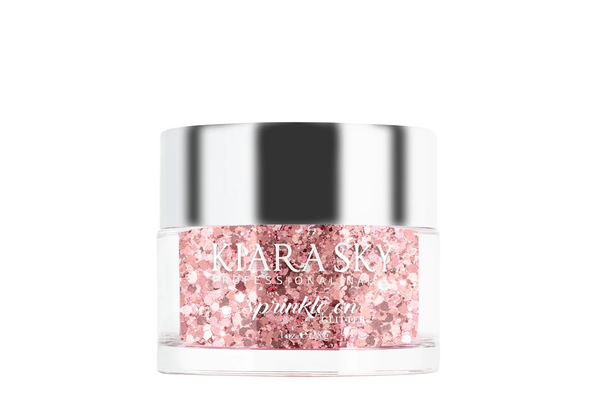 Kiara Sky - Sprinkle on Glitter Dip Powder - Rose Velvet 1 oz