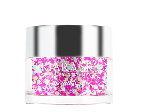 Kiara Sky - Sprinkle on Glitter Dip Powder - B-Day Bash 1 oz
