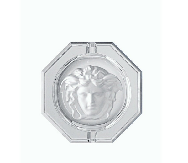 Versace Medusa Lumiere Ashtray, Crystal 5 inch (damaged box)