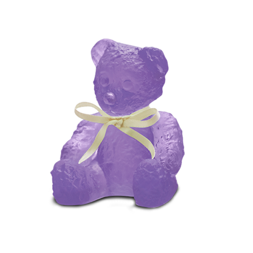 Daum Violet Mini Doudours Teddy Bear