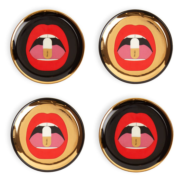Jonathan Adler Full Dose Coaster , Set of 4