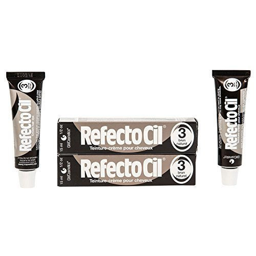 Refectocil Twin Pack Natural Brown Cream Hair Dye, , 15ml X 2