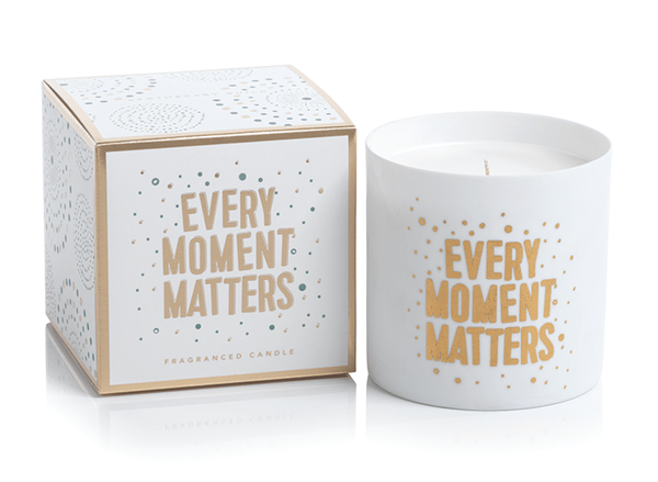 "Apothecary Guild Candle Black Fig Vetiver ""Every Moment Matters"" 8.9 oz"