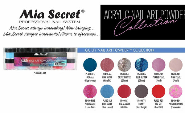 Mia Secret - GUILTY Nail Art Powder Collection, 12 piece