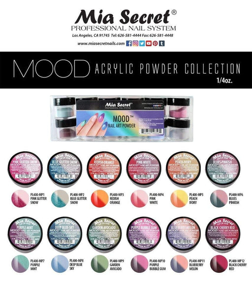 Mia Secret - MOOD Acrylic Nail Art Powder Collection, 12 piece