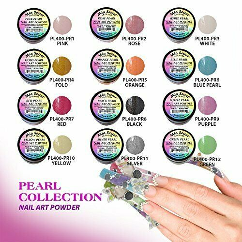 Mia Secret - PEARL Nail Art Powder Collection, 12 piece
