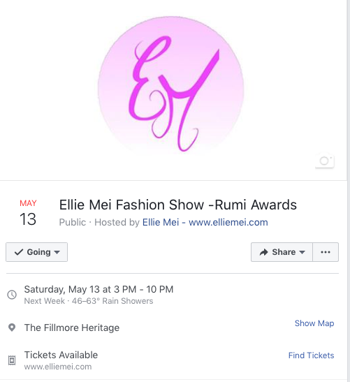 Ellie Mei Fashion Show -Rumi Awards