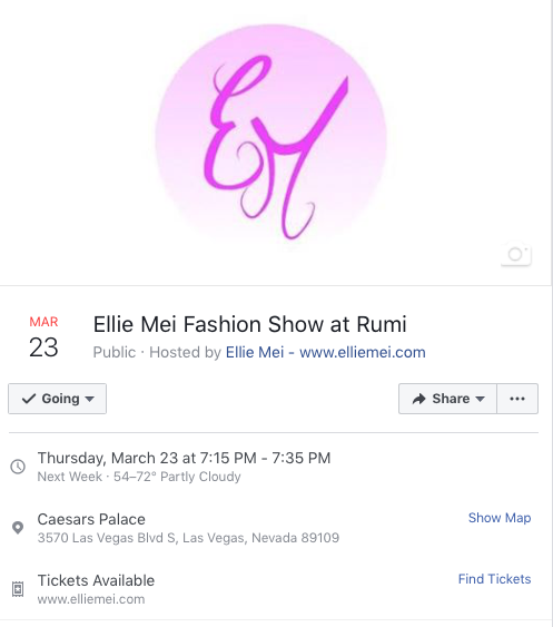 Ellie Mei Las Vegas Fashion Show at Rumi
