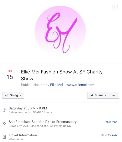 Fashion Show Event -Ellie Mei Fashion Show At SF Charity Fashion Show