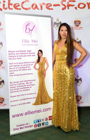 ellie mei owner founder.designer .USA brand . usa fashion market place. la fashion market . wholesale apparel . run way . red carpet dress. luxury gowns. prom