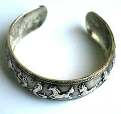 Zodiac 12-Animals Etched Cuff Bracelet EMBL