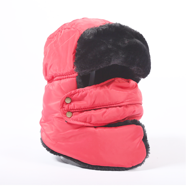 Faux Fur  Unisex Winter Canvas  Cap Hat   ITEM NO: EM-H2