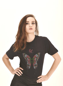butterfly t shirt t shirts design graphic t shirts t shirt printing unique graphic t shirts  ellie mei design t shirts  logo tee women's black t shirts  gifts idea christmas gifts birthday gifts butterfly festival t shirts  fitted t shirt