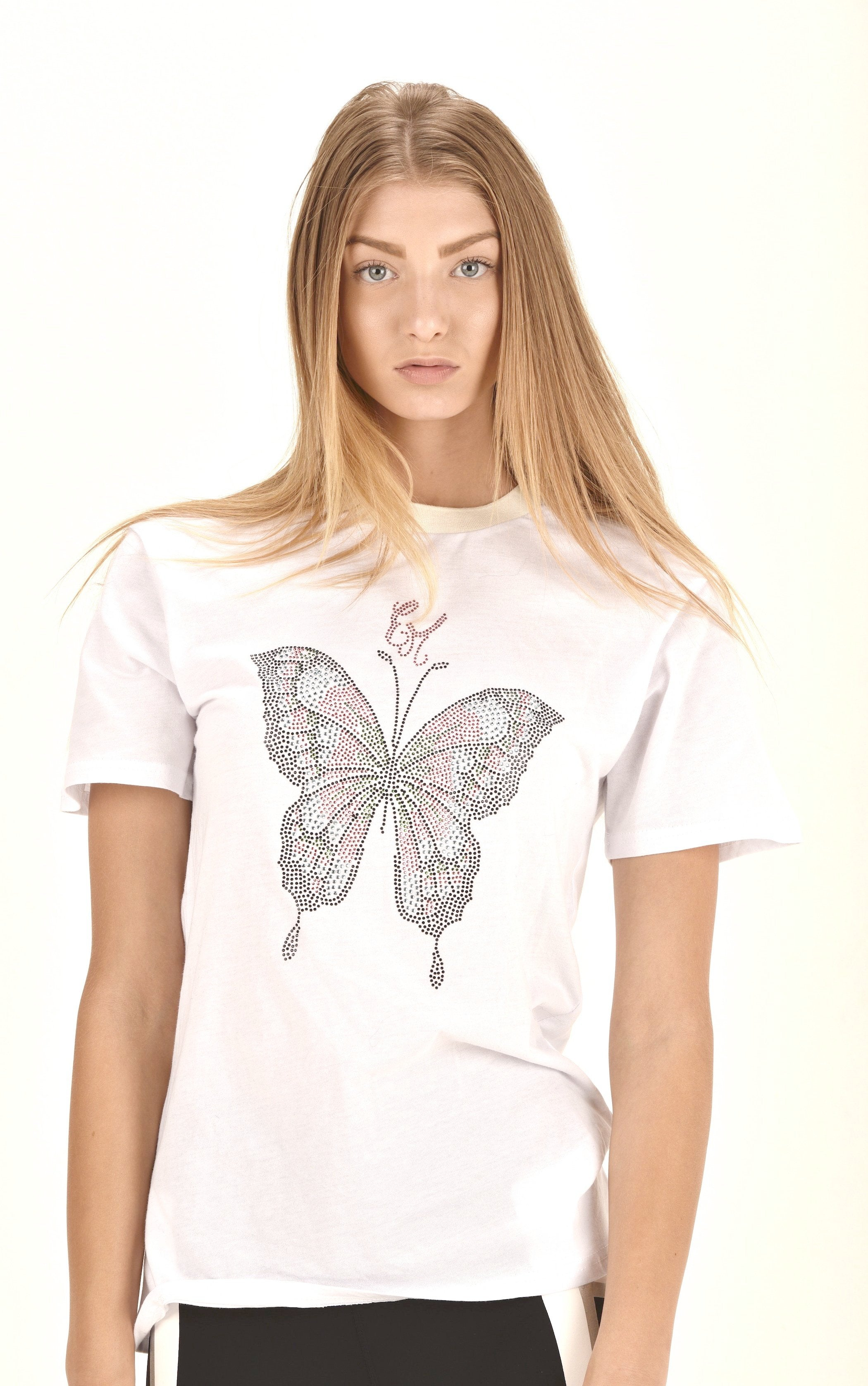 butterfly t shirt t shirts design graphic t shirts t shirt printing unique graphic t shirts  ellie mei design t shirts  logo tee women's black t shirts  gifts idea christmas gifts birthday gifts butterfly festival t shirts  fitted t shirt  white sparkle butterfly t shirts
