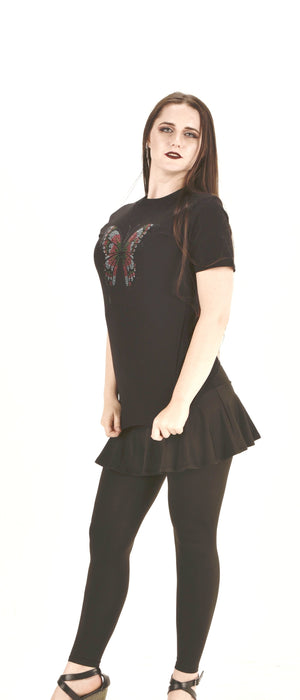 Unisex Sparkle Butterfly T-Shirt . Sequins Butterfly Top ITEM NO: EM180019B