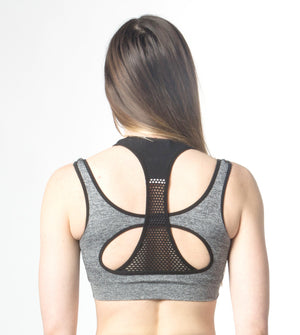 Ellie Mei Chic Four -Way Stretch  Colorblock Active Bra Sports  Yoga Bra ITEM NO: EM180026