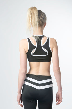 chic colorblock sports energy bra with four-way stretch, light support and soft strech fabric makes you very cool and very smooth feel, perfect for yoga , pilates and lounging, gymnastic sports and move freely with any workouts, so comfortable you'll love it for every day wear .